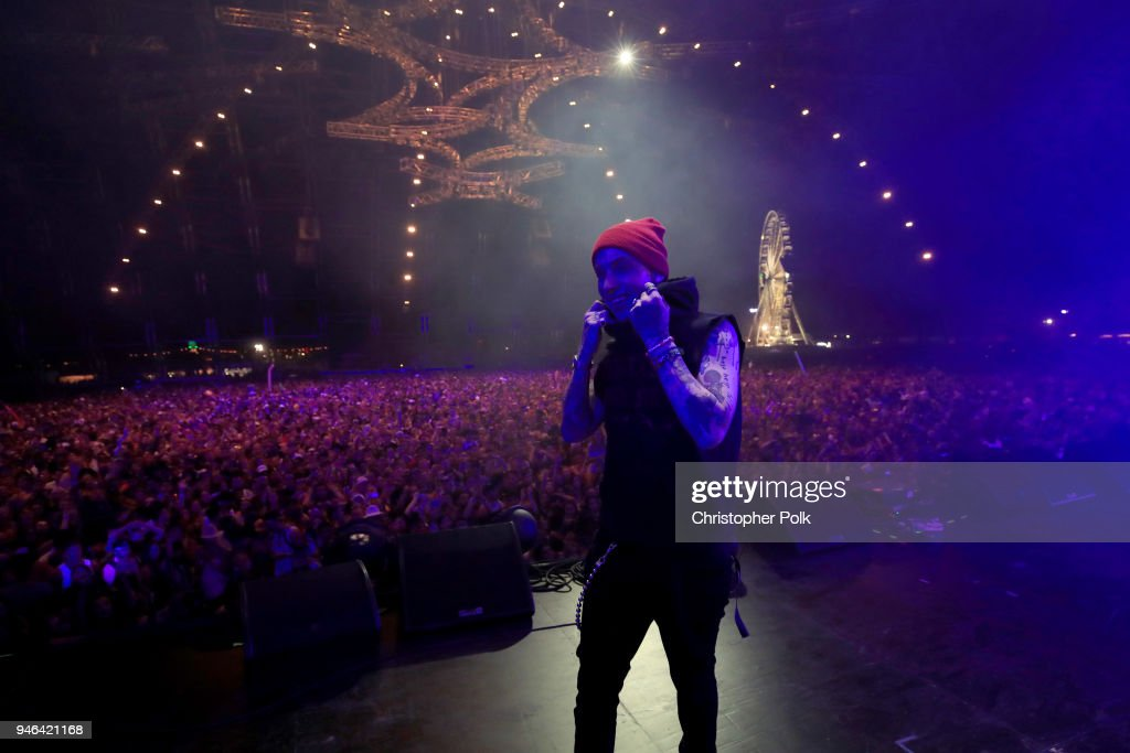 Matthew Tyler Musto of blackbear performs onstage during 2018 Coachella Valley Music And Arts Festival Weekend 1 at the Empire Polo Field on April 14, 2018 in Indio, California.