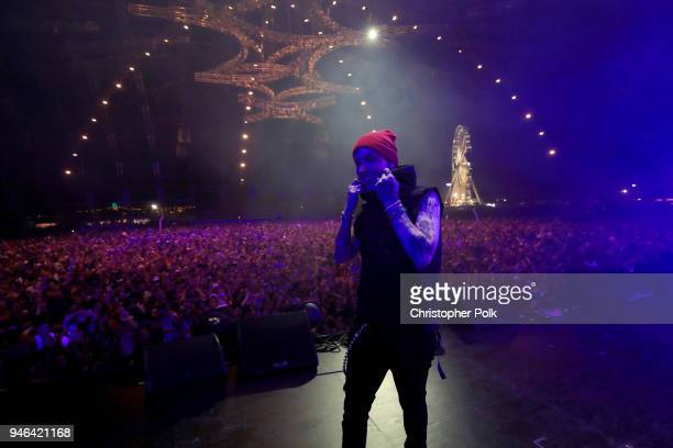 Matthew Tyler Musto of blackbear performs onstage during 2018 Coachella Valley Music And Arts Festival Weekend 1 at the Empire Polo Field on April 14...