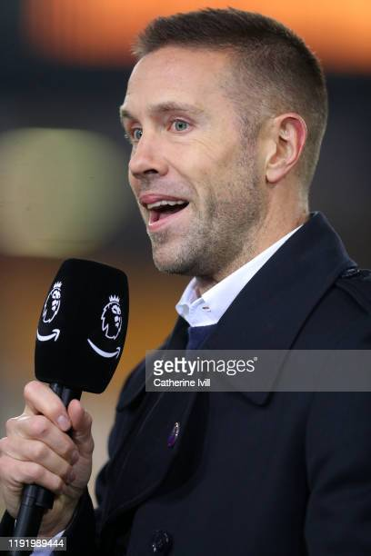 Matthew Upson for Amazon Prime ahead of the Premier League match between Wolverhampton Wanderers and West Ham United at Molineux on December 04, 2019...