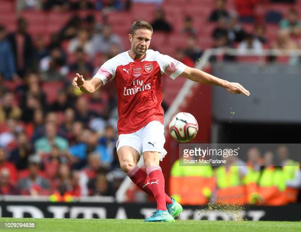 Matthew Upson of Arsenal during the match between Arsenal Legends and Real Madrid Legends at Emirates Stadium on September 8, 2018 in London, United...