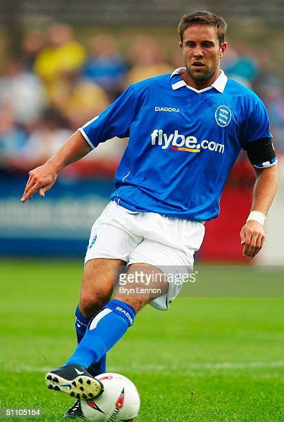 Matthew Upson of Birmingham City in action during the preseason firendly between Cheltenham Town and Birmingham City at Whaddon Road on July 17 2004...