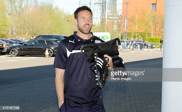 Matthew Upson of Leicester City arrives at King Power Stadium ahead of the Premier League match between Leicester City and Swansea City at The King...