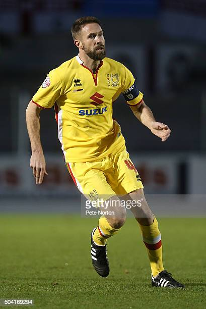 Matthew Upson of Milton Keynes Dons in action during The Emirates FA Cup Third Round match between Northampton Town and Milton Keynes Dons at...