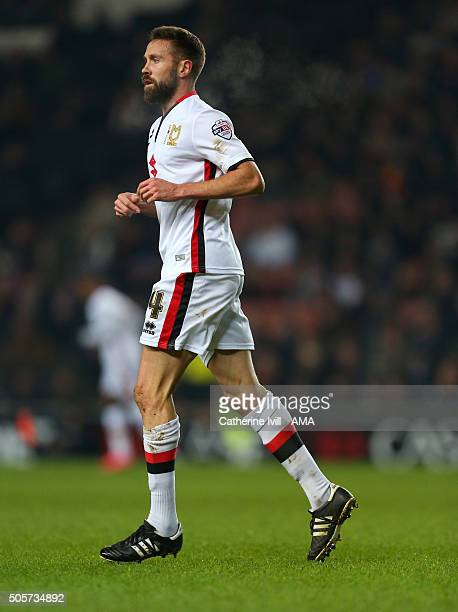 Matthew Upson of MK Dons during the Emirates FA Cup match between MK Dons and Northampton Town at Stadium mk on January 19, 2016 in Milton Keynes,...