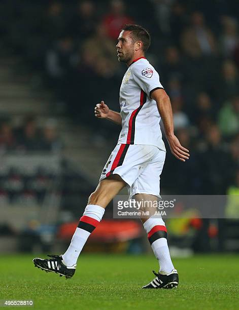 Matthew Upson of MK Dons during the Sky Bet Championship match between MK Dons and Charlton Athletic at Stadium mk on November 3, 2015 in Milton...