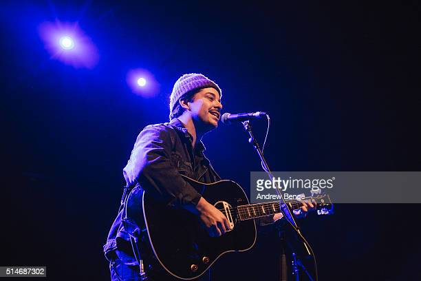 Matthew Vasquez performs on stage at The O2 Ritz Manchester on March 10 2016 in Manchester England