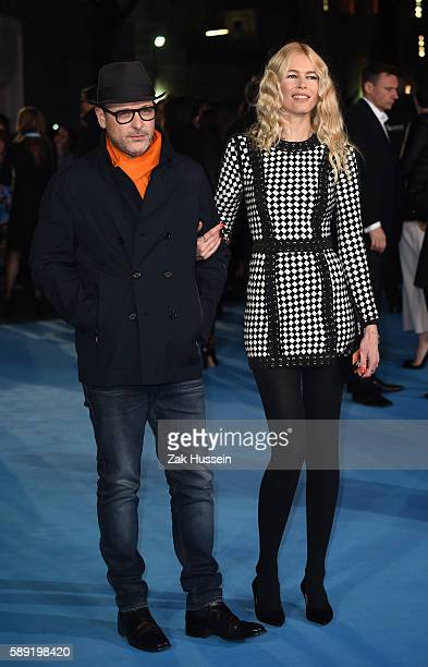 Matthew Vaughn and Claudia Schiffer arriving at the European premiere of Eddie the Eagle at the Odeon Leicester Square in London