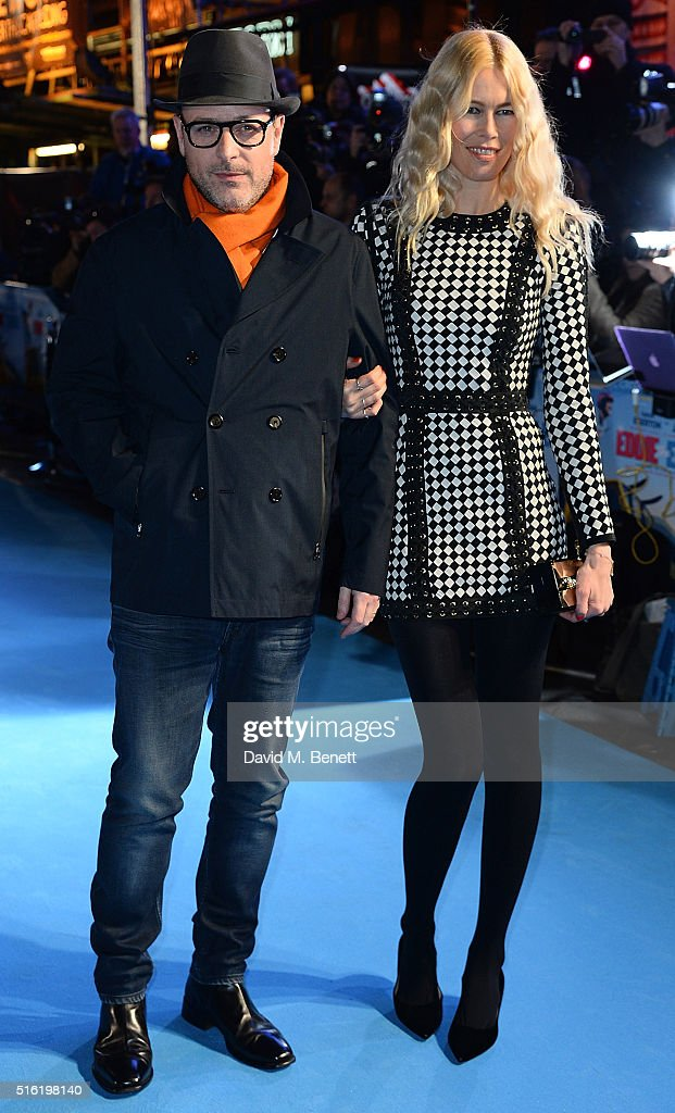 Matthew Vaughn and Claudia Shiffer attend the European Premiere of 'Eddie The Eagle' at Odeon Leicester Square on March 17, 2016 in London, England.
