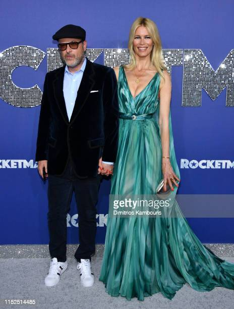 Matthew Vaughn and Claudia Shiffer attends the Rocketman New York Premiere at Alice Tully Hall on May 29 2019 in New York City