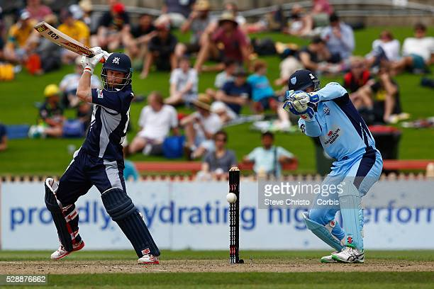 Matthew Wade captain of the Bushrangers batting against the Blues during the Matador BBQ's OneDay Cup between New South Wales Blues and Victorian...