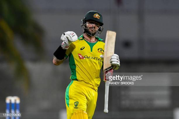 Matthew Wade of Australia after winning the 3rd and final ODI between West Indies and Australia at Kensington Oval, Bridgetown, Barbados, on July 26,...