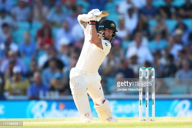 Matthew Wade of Australia bats during day four of the 5th Specsavers Ashes Test between England and Australia at The Kia Oval on September 15 2019 in...