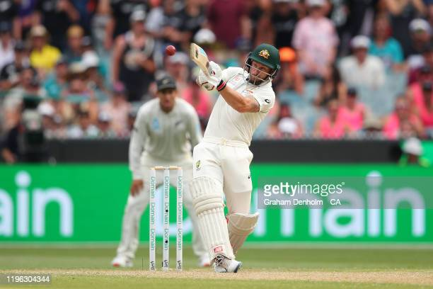 Matthew Wade of Australia bats during day three of the Second Test match in the series between Australia and New Zealand at Melbourne Cricket Ground...
