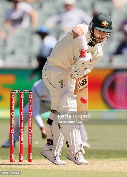 Matthew Wade of Australia bats during day two of the First Test match between Australia and India at Adelaide Oval on December 18, 2020 in Adelaide,...