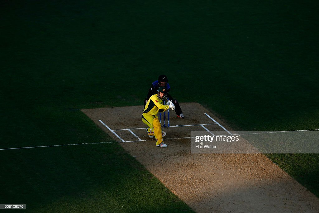 Matthew Wade of Australia bats during the One Day International match between New Zealand and Australia at Eden Park on February 3, 2016 in Auckland, New Zealand.