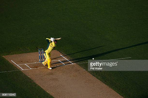 Matthew Wade of Australia bats during the One Day International match between New Zealand and Australia at Eden Park on February 3 2016 in Auckland...