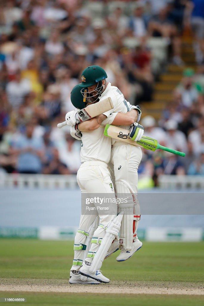 England v Australia - 1st Specsavers Ashes Test: Day Four : ニュース写真