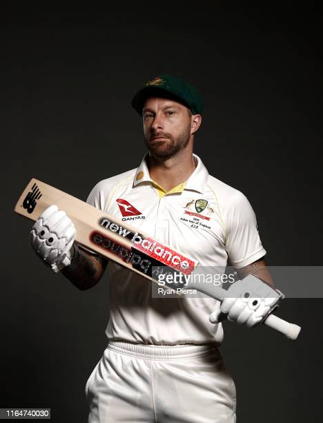 Matthew Wade of Australia poses during the Australia Ashes Squad Portrait Session on July 28, 2019 in Birmingham, England.