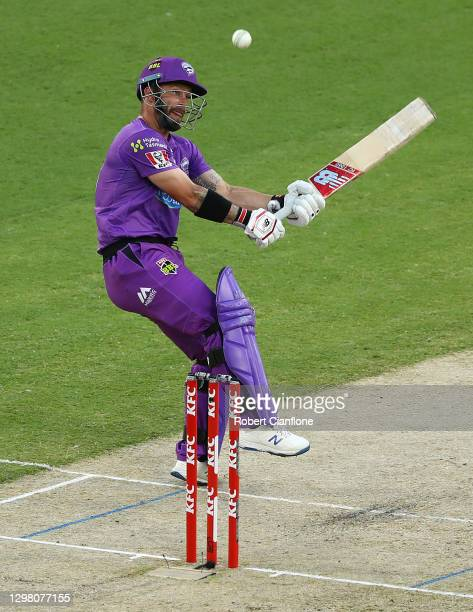 Matthew Wade of the Hobart Hurricanes bats during the Big Bash League match between the Sydney Sixers and Hobart Hurricanes at Melbourne Cricket...