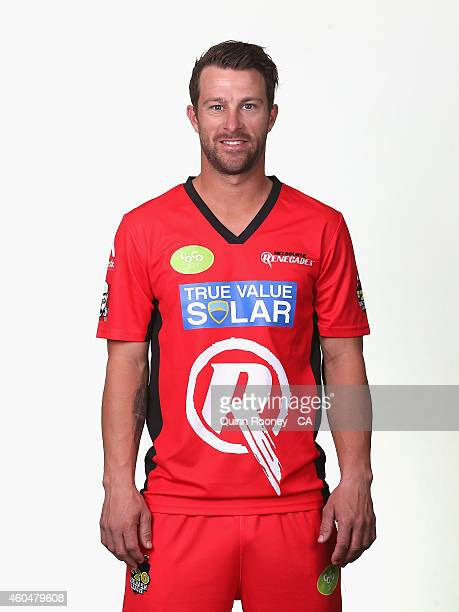 Matthew Wade of the Renegades poses during the Melbourne Renegades Big Bash League headshots session at Soniq Headquarters on December 15, 2014 in...