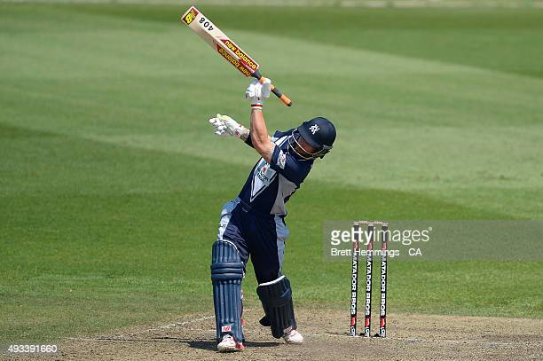 Matthew Wade of Victoria looses control of his bat during the Matador BBQs One Day Cup match between Tasmania and Victoria at North Sydney Oval on...