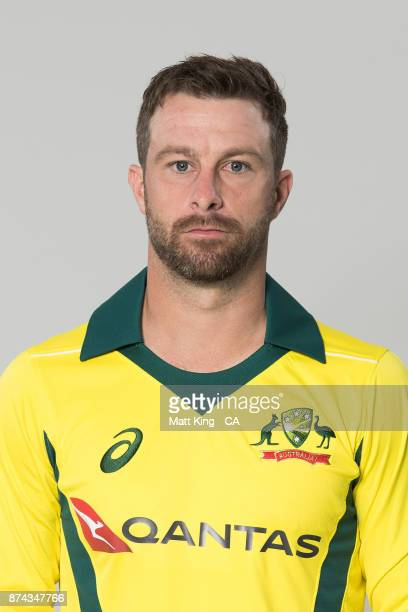 Matthew Wade poses during the Australia One Day International Team Headshots Session at Intercontinental Double Bay on October 15 2017 in Sydney...