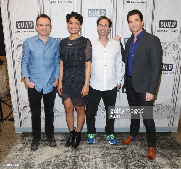 Matthew Warchus Barrett Doss Danny Rubin and Andy Karl attend the Build Series at Build Studio on April 7 2017 in New York City