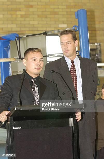 Matthew Watt owner and manager of SMA with Kostya Tszyu Australia's undisputed super lightweight World Boxing Champion who announced his new...