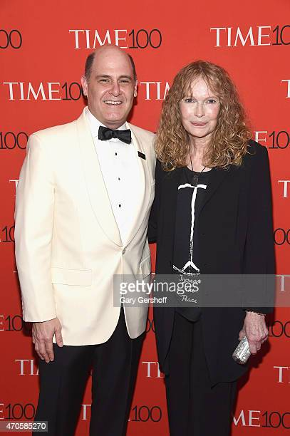 Matthew Weiner and Mia Farrow attend TIME 100 Gala TIME's 100 Most Influential People In The World at Frederick P Rose Hall Jazz at Lincoln Center on...