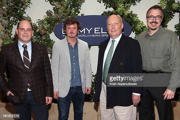 Matthew Weiner Beau Willimon Julian Fellowes and Vince Gilligan attend Variety Emmy Elite The Showrunners Breakfast at the Four Seasons Hotel Los...