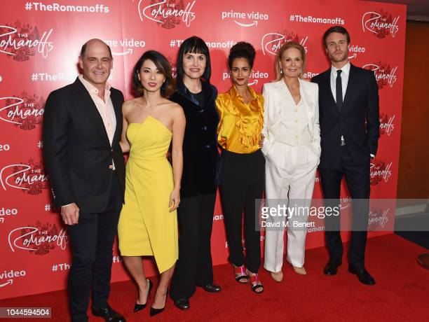 Matthew Weiner Jing Lusi Adele Anderson Ines Melab Marthe Keller and Hugh Skinner attend the World Premiere of Amazon Prime Video's The Romanoffs at...
