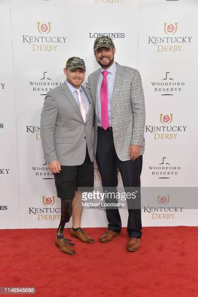 Matthew Wheeler and Jacob Tamme attend the 145th Kentucky Derby at Churchill Downs on May 04, 2019 in Louisville, Kentucky.