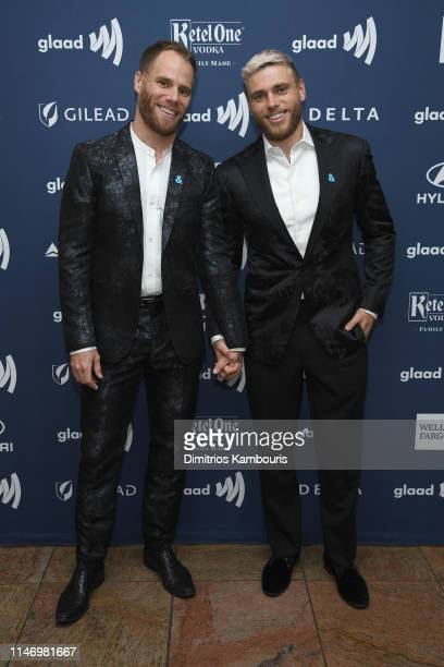 Matthew Wilkas and Gus Kenworthy attend the 30th Annual GLAAD Media Awards New York at New York Hilton Midtown on May 04, 2019 in New York City.