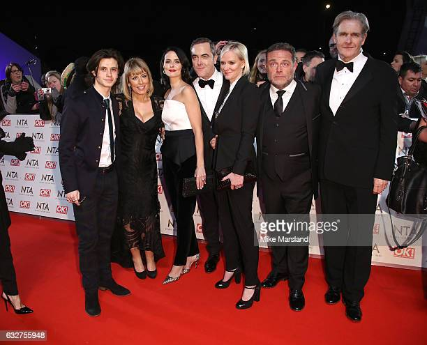 Matthew Williams Leanne Best James Nesbitt Hermione Norris Robert Bathurst Fay Ripley and John Thompson attends the National Television Awards at The...