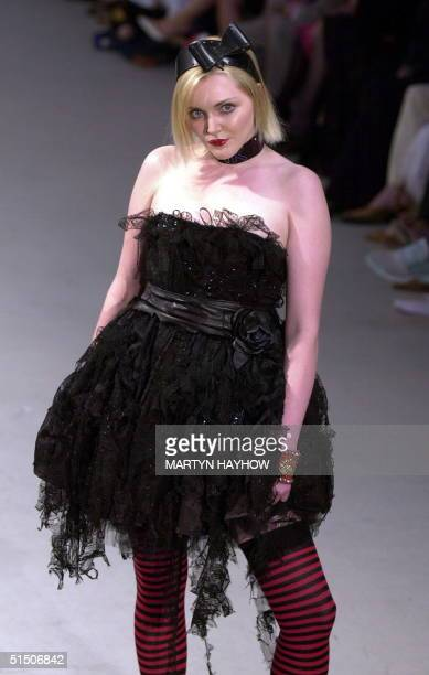 Matthew Williams show at the Saatchi Gallery on the second day of the London Fashion Week 19 February 2001 where Sophie Dahl daughter of the late...