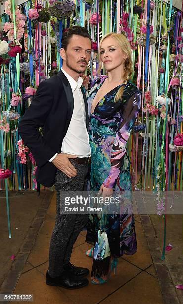 Matthew Williamson and Fearne Cotton attend the Matthew Williamson LIKEtoKNOWit Summer Party to celebrate the high summer collection 'Mirage' at...