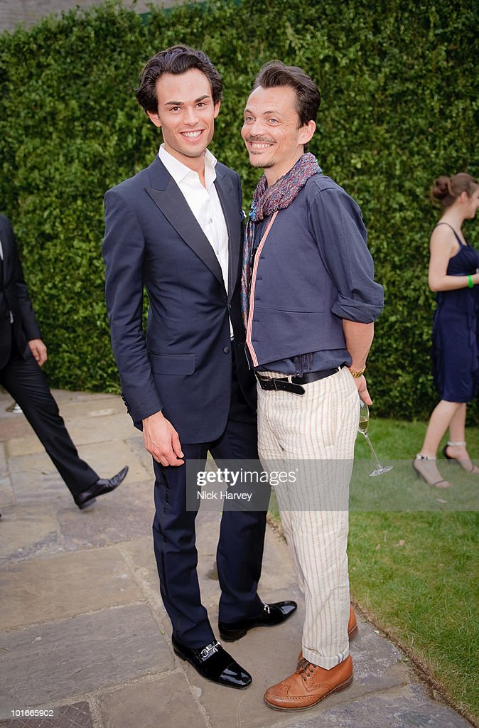 Matthew Williamson and guest attend the annual Raisa Gorbachev Foundation Party at Stud House, Hampton Court on June 5, 2010 in London, England.