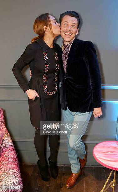 Matthew Williamson and Lindsay Lohan attend as Matthew Williamson launches his first furniture collection with Duresta exclusively at Harrods on...