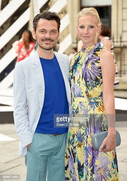 Matthew Williamson and Savannah Miller attend the VIP preview of the Royal Academy of Arts Summer Exhibition 2016 at Royal Academy of Arts on June 7,...