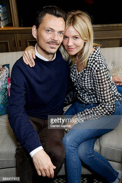 Matthew Williamson and Sienna Miller attend the exclusive preview of the new USA Pro and Matthew Williamson yoga and active wear collaboration at the...