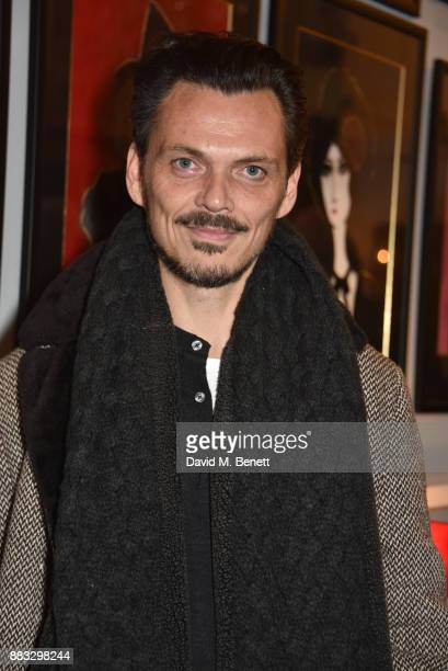 Matthew Williamson attends a private view of artist Rebecca Leigh's exhibition hosted by Sadie Frost at Tann Rokka on November 30 2017 in London...