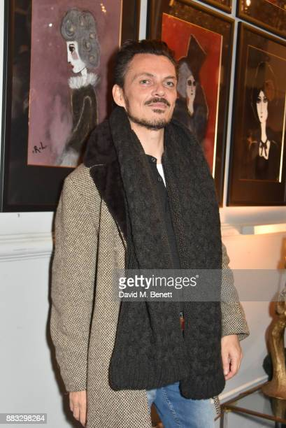 Matthew Williamson attends a private view of artist Rebecca Leigh's exhibition hosted by Sadie Frost at Tann Rokka on November 30, 2017 in London,...