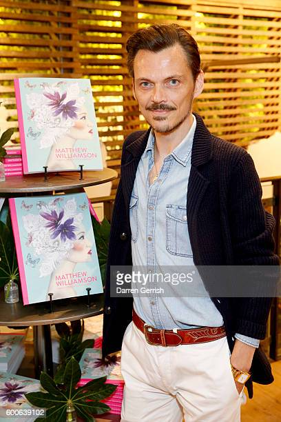 Matthew Williamson attends the book launch of Matthew Williamson Fashion Print Colouring by Laurence King Publishing at Anthropologie on September 8...