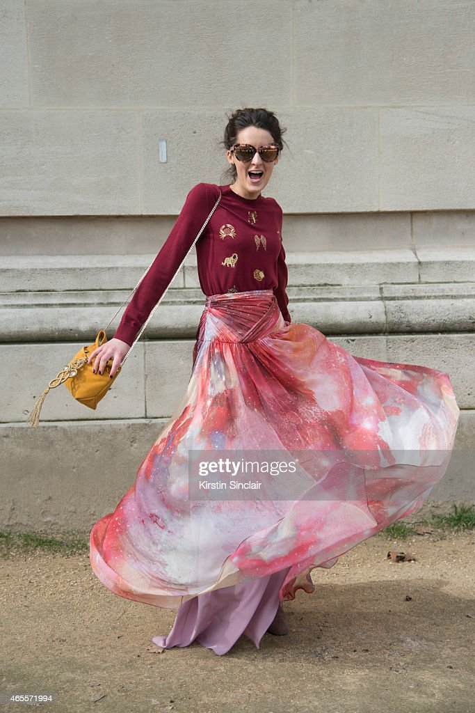 Matthew Williamson Communications Director Rosanna Falconer wears all Matthew Williamson on day 5 of Paris Collections: Women on March 07, 2015 in Paris, France.