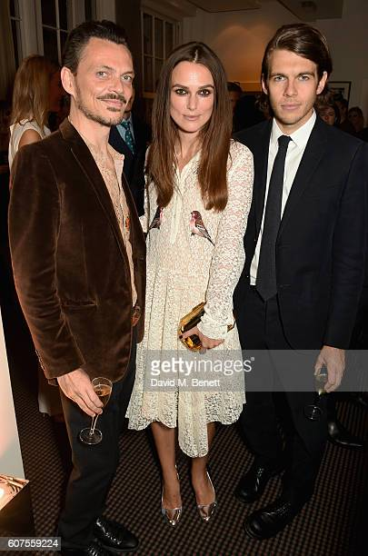 Matthew Williamson Keira Knightley and James Righton attend the Green Carpet Challenge 2016 BAFTA Night to Remember on September 18 2016 in London...