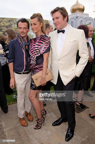Matthew Williamson Yasmin le Bon and Simon le Bon attend the annual Raisa Gorbachev Foundation Party at Stud House Hampton Court on June 5 2010 in...