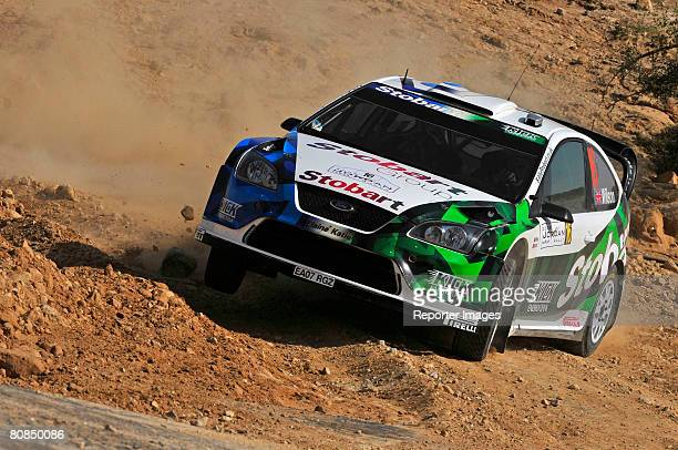 Matthew Wilson and Scott Martin of Great Britain and Stobart VK MSport Ford Rally Team drive their Ford Focus RS WRC '07 A/8 during the Shakedown of...