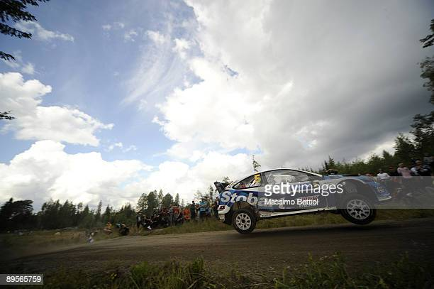 Matthew Wilson of Great Britain and Scott Martin of Great Britain compete in their Stobart VK Ford Focus during Leg 3 of the WRC Neste Oil Rally of...