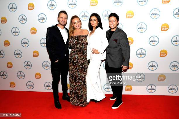 Matthew Wolfenden Amy Walsh Roxy Shahidi and Ash Palmisciano attend the Good Morning Britain 1 Million Minutes Awards at Studio Works on January 23...
