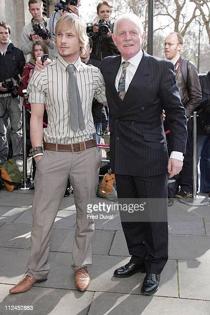 Matthew Wolfenden and Chris Chittell during TRIC Awards 2007 Outside Arrivals at Grosvenor House in London Great Britain